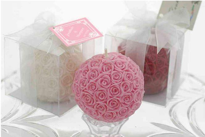 Candela palla di rose