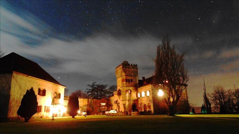 Beispiel: Nachtaufnahme, Foto: Schloss Geyersberg.