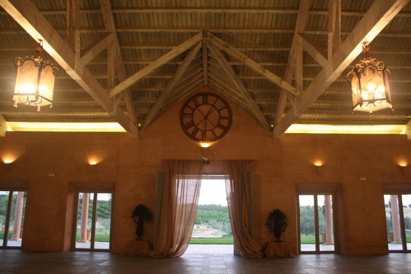 Vista detalle salón celebraciones Hacienda Molinillos