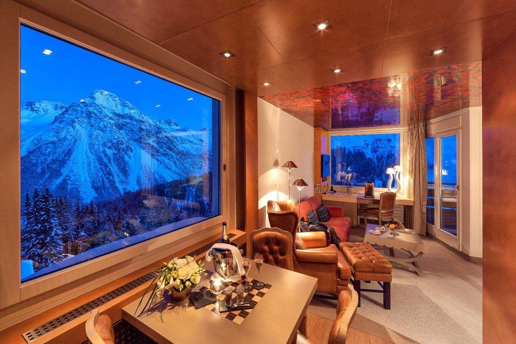 Beispiel: Junior Suite, Foto: Tschuggen Grand Hotel Arosa.