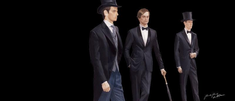 Beispiel: Smoking und Co, Foto: Alferano Männer Mode.