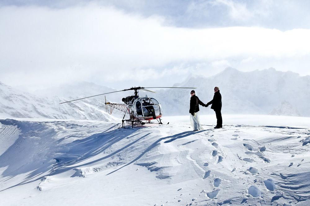 Beispiel: Umsetzung ausgefallener Ideen, Foto: Switzerland Wedding Company.