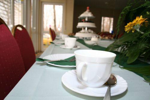 Beispiel: Bankett - Tischdekoration, Foto: Villa am Habermannsee.