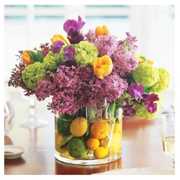 Composizione fiori-ortaggi