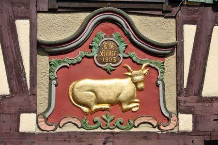 Beispiel: Wappen, Foto: AKZENT Hotel Goldener Ochsen.