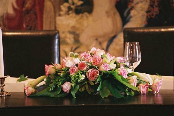 Beispiel: Blumendekoration, Foto: Schloss Ottersbach.