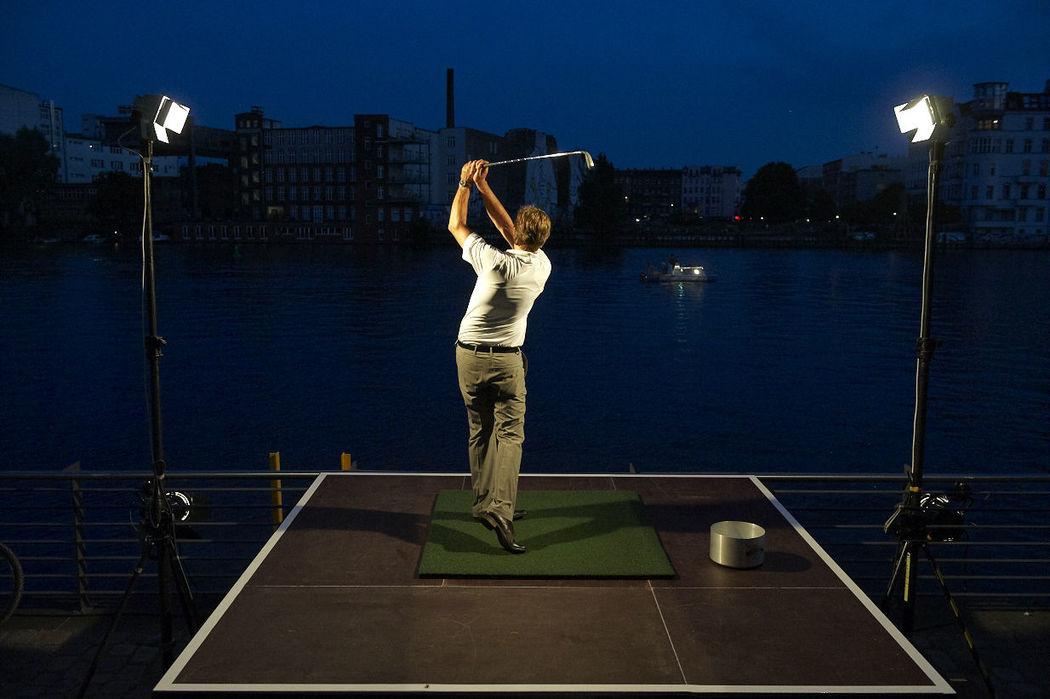 Beispiel: Golfsimulator, Foto: Capitol Yard Golf Lounge.