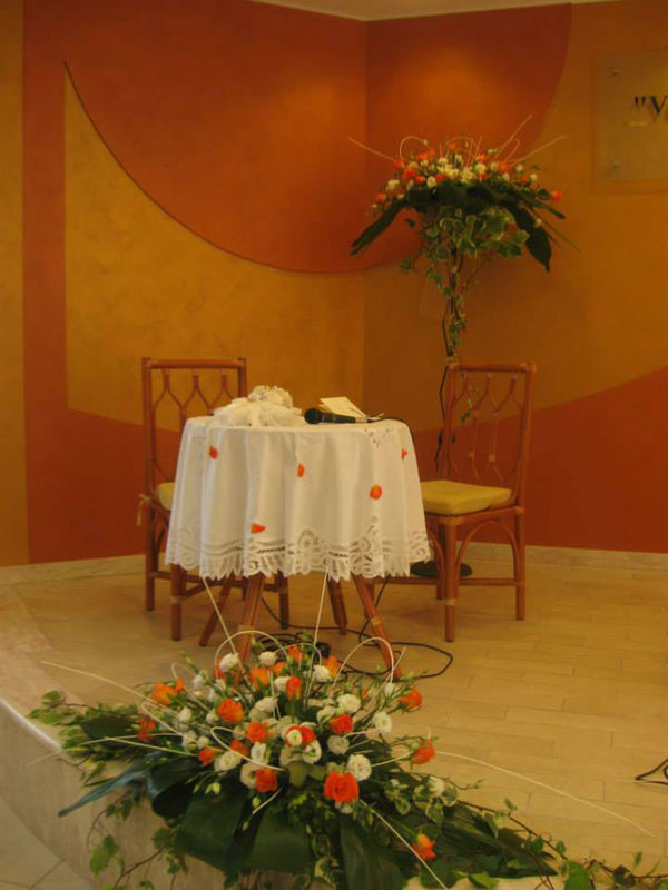 Allestimenti cerimonia arancio
