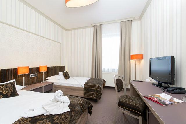 Beispiel: Twin-Bett Zimmer, Foto: Romantik Hotel Dorotheenhof.