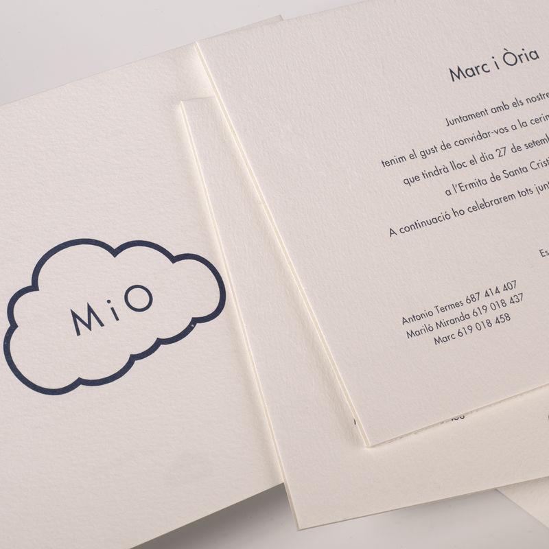 Invitación boda extragruesa