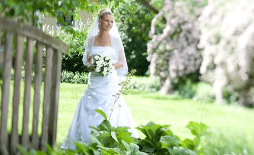 Beispiel: Portrait der Braut, Foto: Pinax Fotostudio.