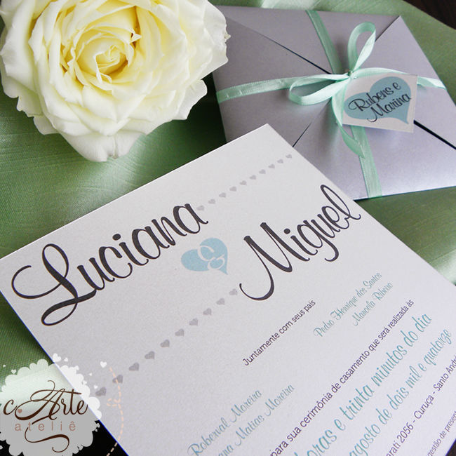 Convite Minted Grey