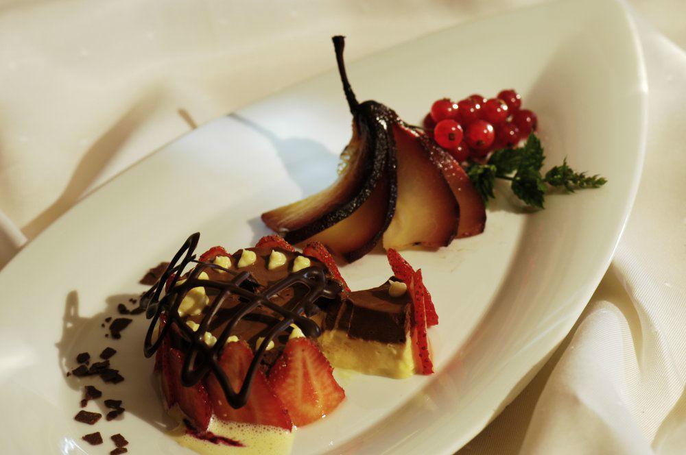 Beispiel: Dessert, Foto: Garten Hotel Maria Theresia.