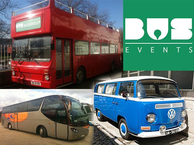Bus Events - Aluguer de autocarros descapotáveis, autocarros de turismo, carrinhas tipo pão-de-forma e outros meios, para todo o tipo de eventos.