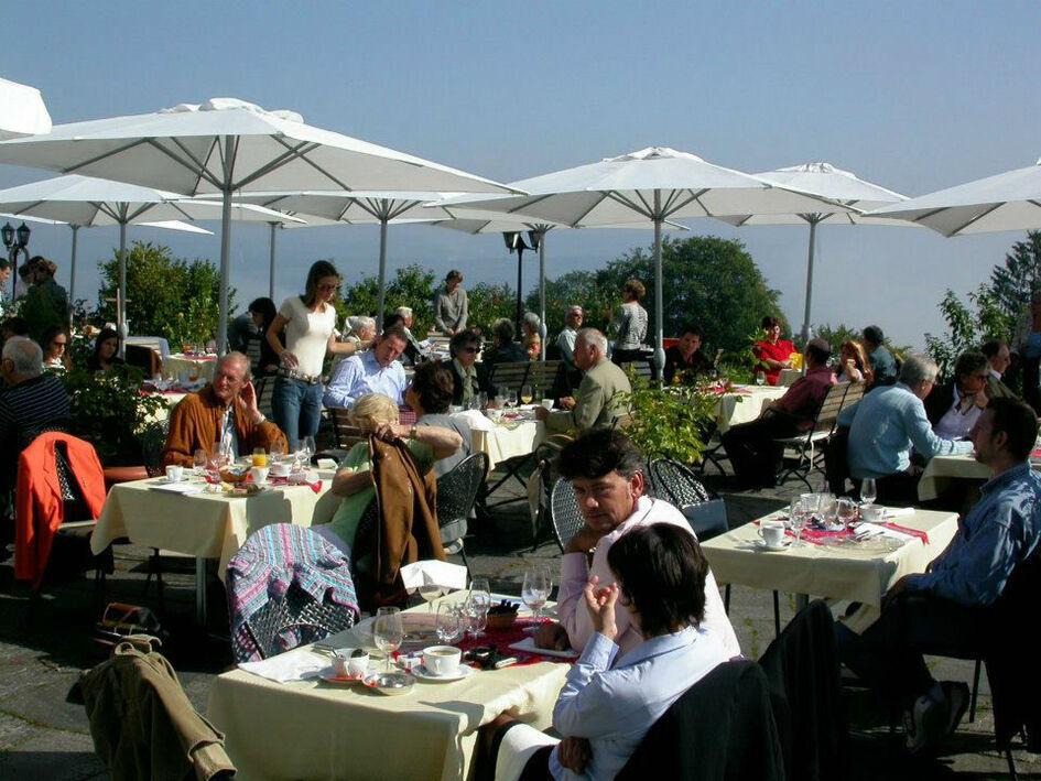 Beispiel: Terrasse, Foto: Hotel Landgasthof Wassberg.