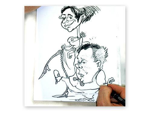 Portraitkarikaturen für Hochzeitseinladungen