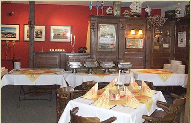 Beispiel: Innenraum - Büffet, Foto: Restaurant Am Löwenplatz.
