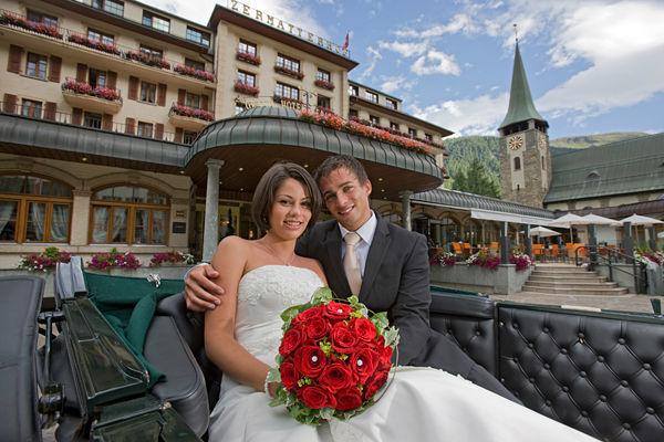 Beispiel: Ihre Traumhochzeit, Foto: Grand Hotel Zermatterhof.