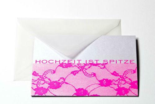 Beispiel: Gratulationskarte, Foto: Bethge Hamburg.