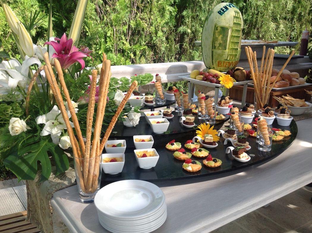Tu banquete estilo buffet. Ideal para bodas pequeñas