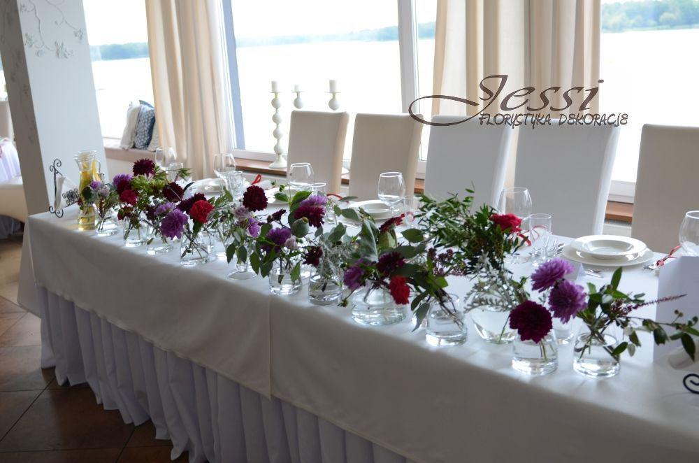 dekoracja stołu Młodych   #ogród