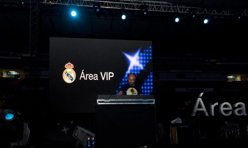 Fiesta area vip Real Madrid F.C
