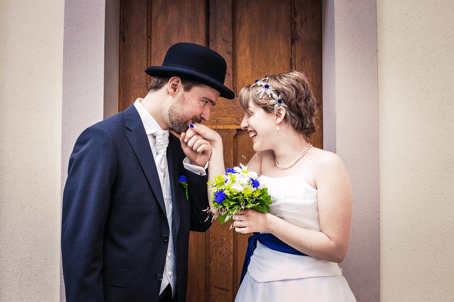 Beispiel: Hochzeitsschnappschuss, Foto: moment mal - fotografie.