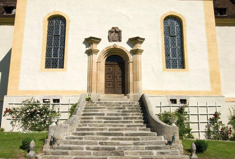Beispiel: Schlosstreppe, Foto: Schloss Ehrenfels.