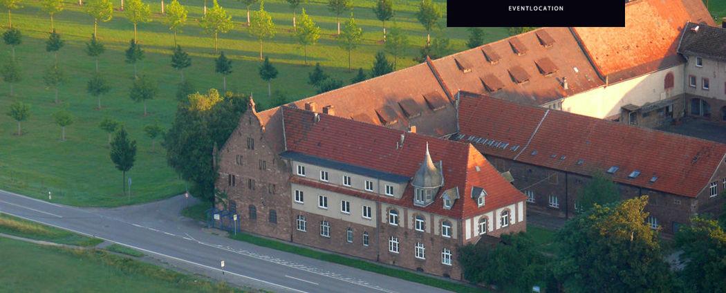 Beispiel: Der Gutshof aus der Luft, Foto: Gutshof Ladenburg.