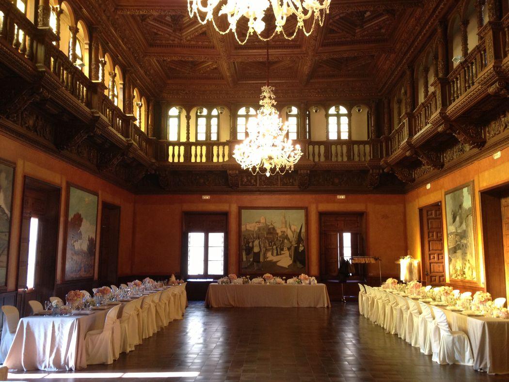 Banquete en la sala noble del Ayuntamiento