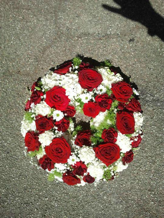 Beispiel: Hochzeitskränze, Foto: Event-Floristik Isabella Neumeister.