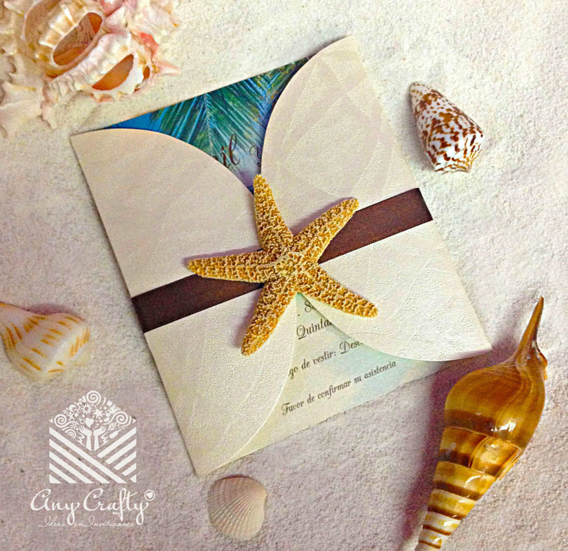 Invitación con estrella de mar
