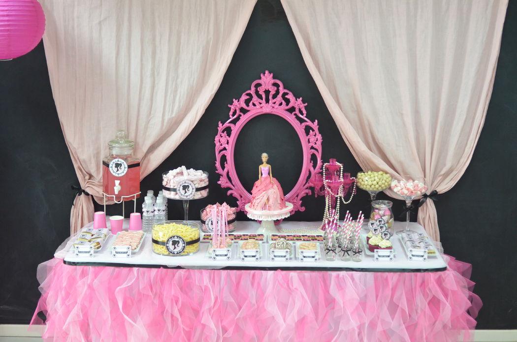 Mesa Dulce inspirada en Barbie