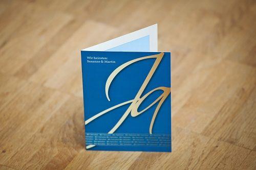 Beispiel: JA - Hochzeitseinladung, Foto: Familieneinladungen.