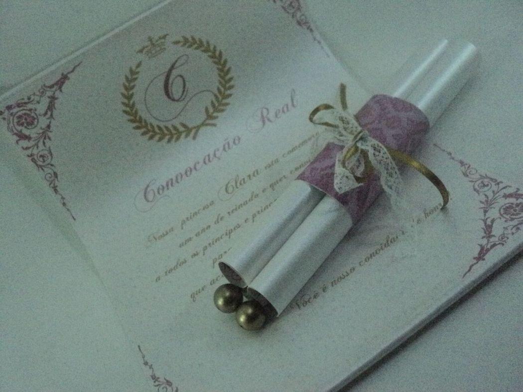 Personalize Artes e Convites Convite pergaminho