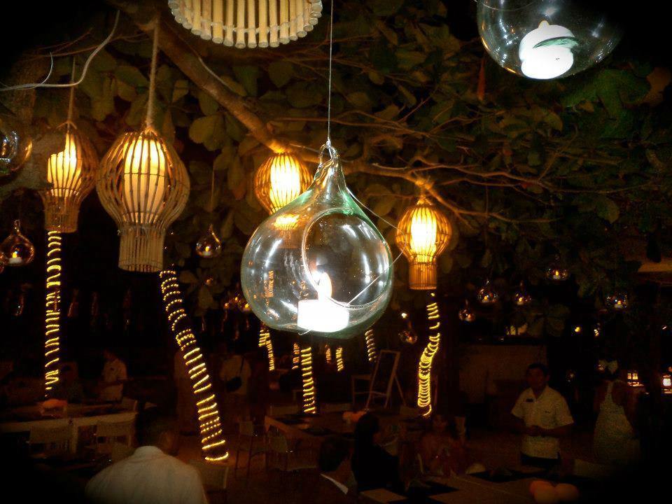 decoracion de esferas con  velas