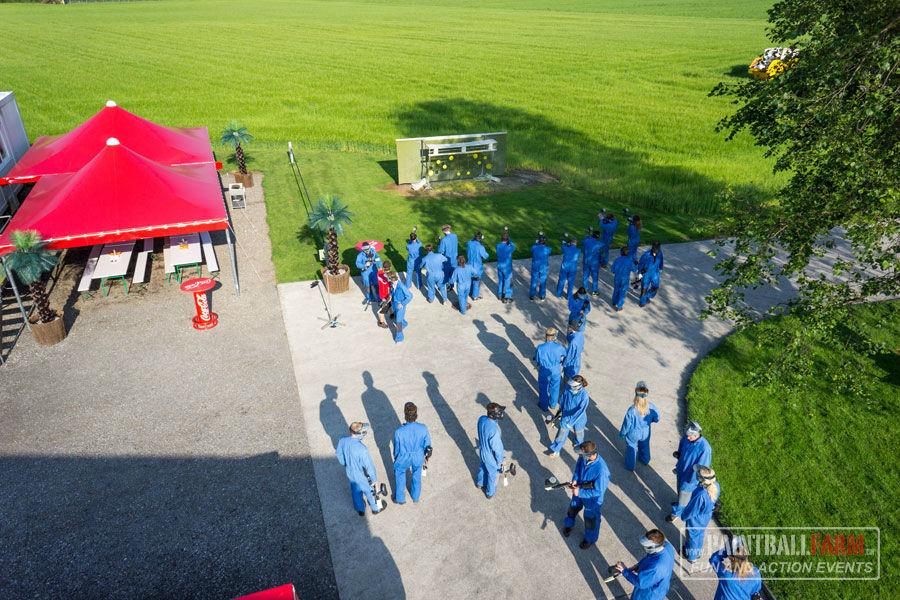 Beispiel: Spielgelände, Foto: Paintballfarm.
