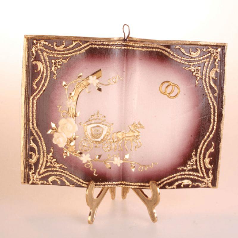 Beispiel: Hochzeitsbuch als Kerze, Foto: Kerzenwelt.