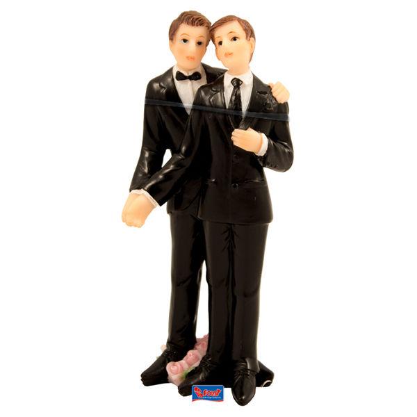 Beispiel: Tortenfiguren - schwules Brautpaar, Foto: Feiermeier Nürnberg.