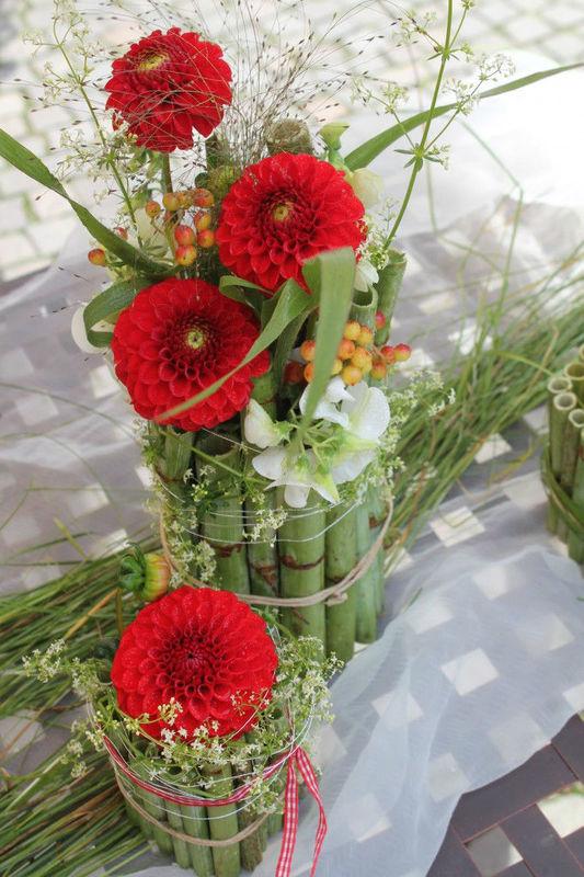 Beispiel: Tischdekoration für die Hochzeit, Foto: Die Blume Gengenbach.