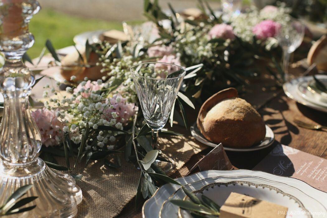 scénographie : Christelle Guéguan Décoration : Entre deux rêves Photo : Paul AndZo  Création florale : L'Atelier Floral Design