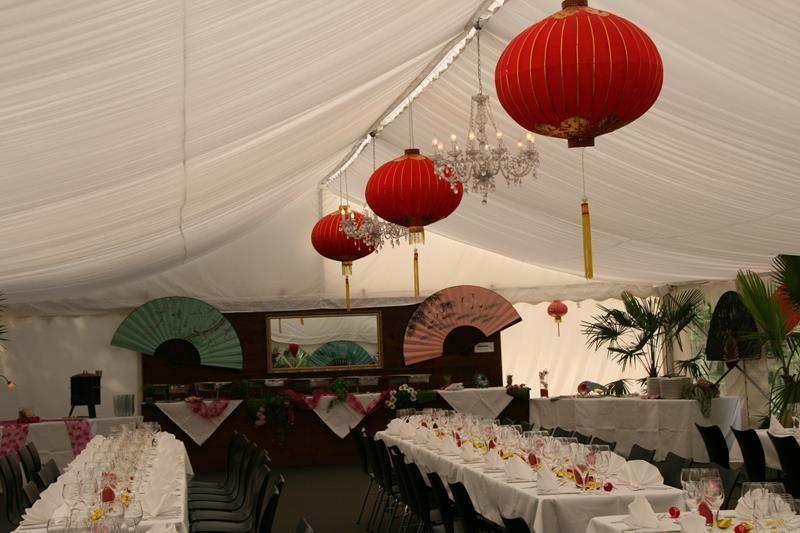 Beispiel: Zelteinrichtung Asiatisch, Foto: Traumgarten Thalwil.