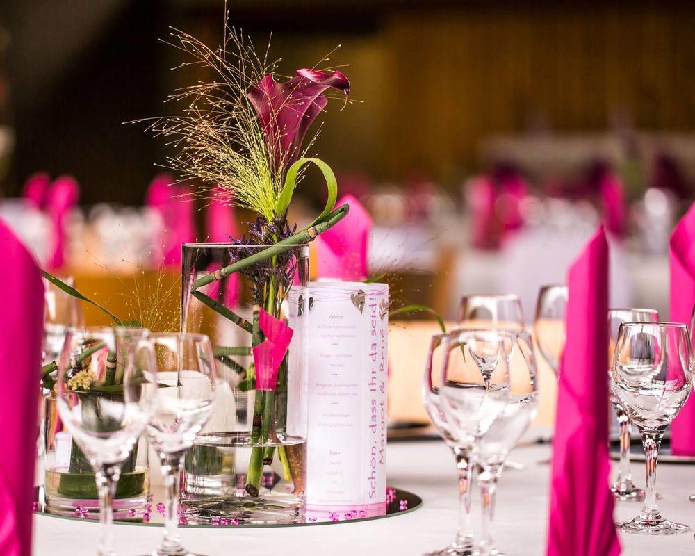 Beispiel: Hochzeitsdekoration, Foto: Feinkost Fischer.