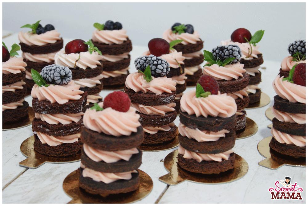 Mini naked cakes para la boda de Sergio y Sonia.