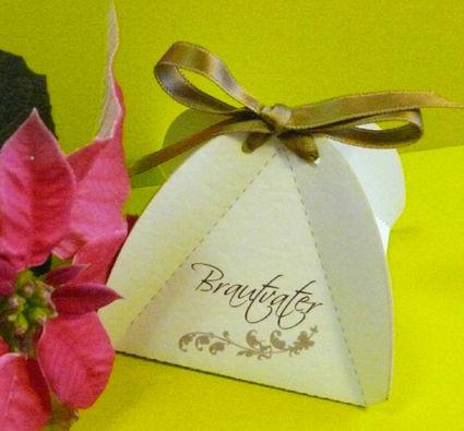 Beispiel: Gastgeschenk Pralinenschachtel, Foto: Druckerei Leue.