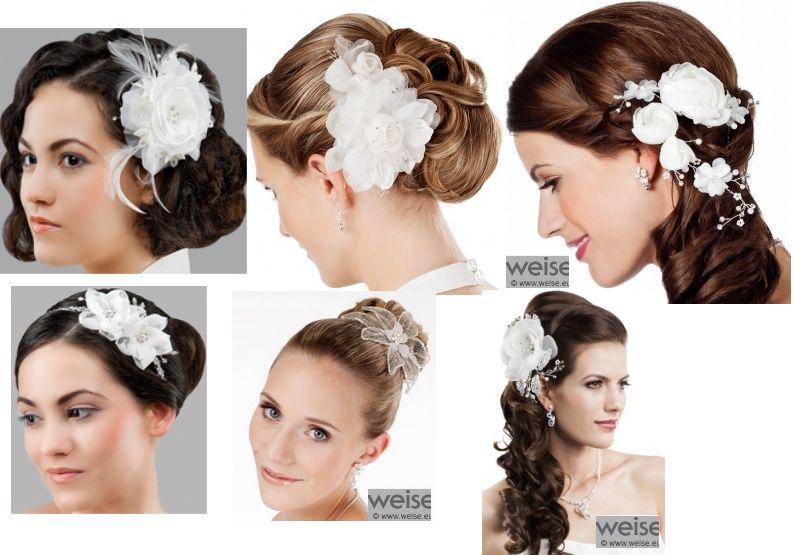 www.kristinabruidsmode.nl  Bruidskapsel accessoires bloemen op kam