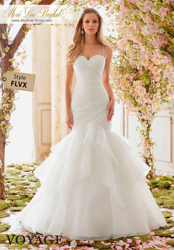 Dress Style FLVX  CRYSTAL BEADED STRAPS ON ORGANZA  Available in Three Lengths: 55