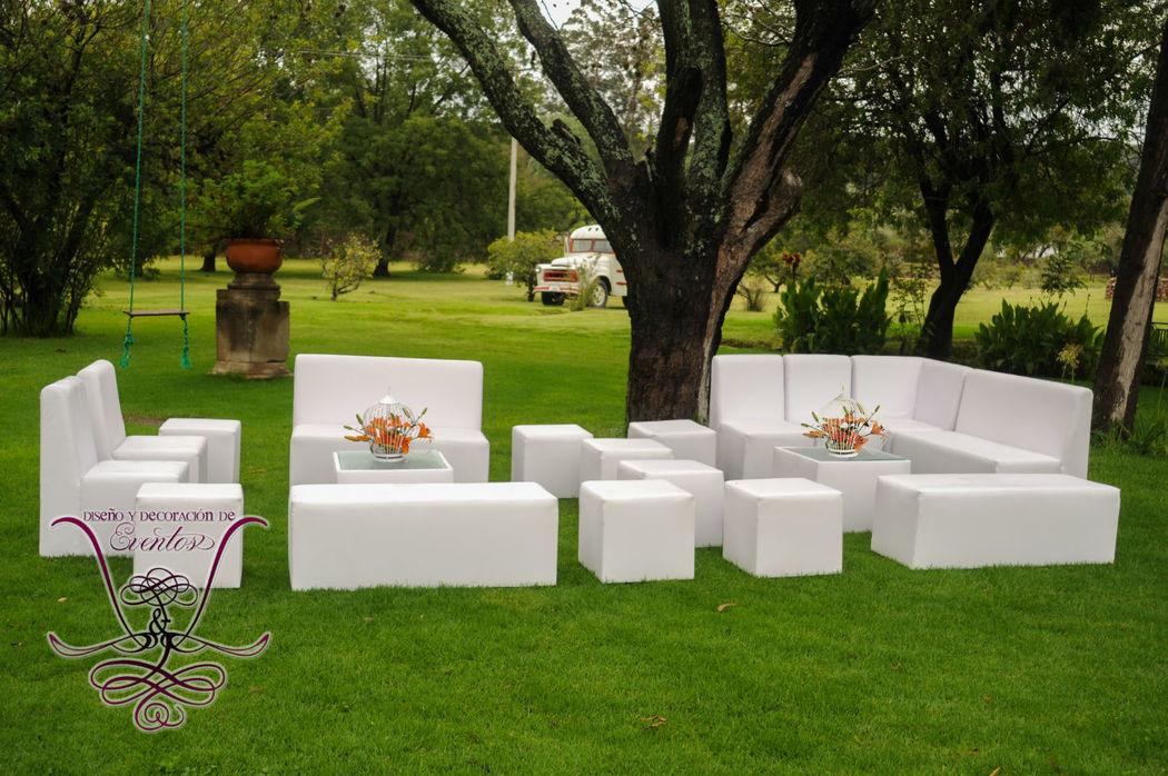 Salas Lounge Blancas  L&L EVENTOS