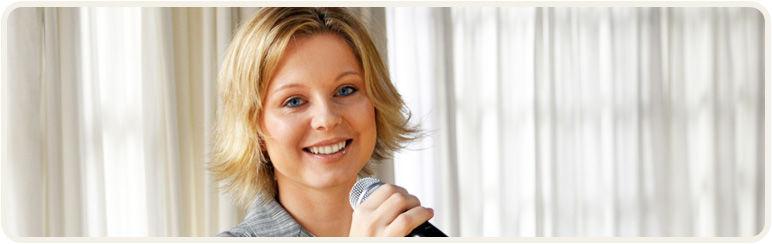 Beispiel: Sängerin, Foto: Annett Music.