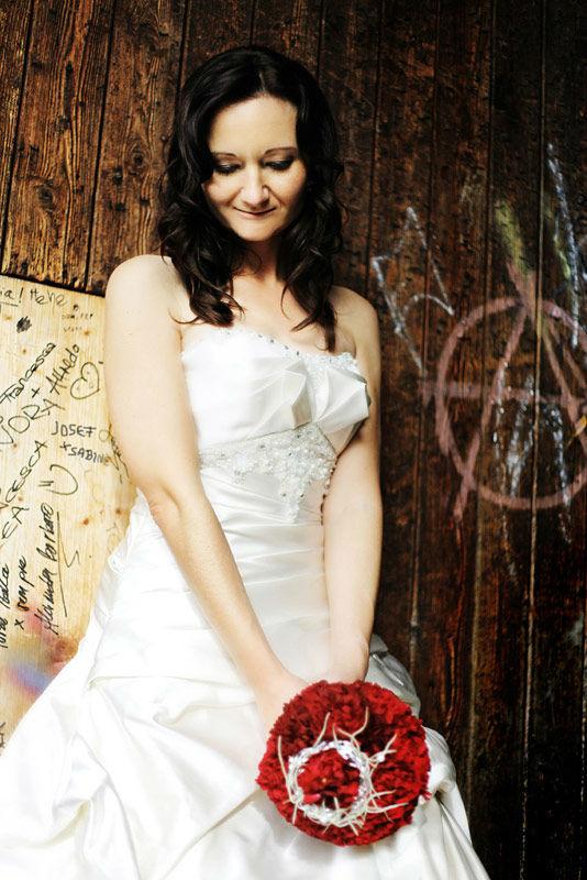 Beispiel: Portrait der Braut, Foto: Hochzeit Fotograf Thomas Hinder.